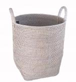 Мебель и Аксессуары для ванной из натурального дерева, Раттана и Бамбука. Раттан Rattan плетёная ёмкость универсальная корзина для белья с ручками СВЕТЛАЯ