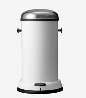 Мусорные баки и вёдра для кухни. Ведро с педалью металлическое 14 и 18 литров Белое