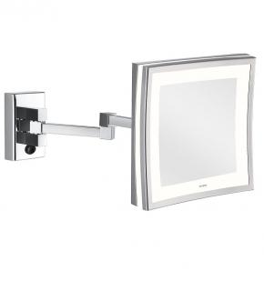 Зеркала косметические с подсветкой увеличением настенные настольные Зеркала с присосками. ALISEO зеркало LED CUBIK LIMITED квадратное с подсветкой и увеличением х3 настенное с двойным шарниром