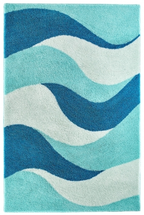 Коврики для ванной комнаты. Aurelia Nicol коврик для ванной комнаты с декором Mint-mediterranian blue-aegean