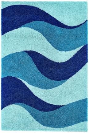 Коврики для ванной комнаты. Aurelia Nicol коврик для ванной комнаты с декором Mint-mediterranian blue-royal blue
