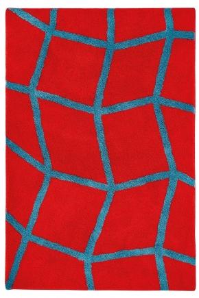 Коврики для ванной комнаты. ZOE Nicol коврик для ванной комнаты с декором Red-Dark turquoise