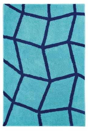 Коврики для ванной комнаты. ZOE Nicol коврик для ванной комнаты с декором Aqua-royal blue