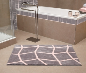 Коврики для ванной комнаты. ZOE Nicol коврик для ванной комнаты с декором Grey light-Magnolia