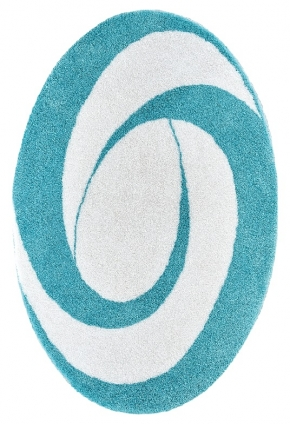 Коврики для ванной комнаты. Candy Nicol коврик для ванной комнаты овальный с декором Aqua White
