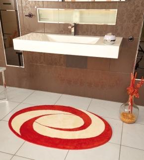 Коврики для ванной комнаты. Candy Nicol коврик для ванной комнаты овальный с декором Оранж-Ваниль