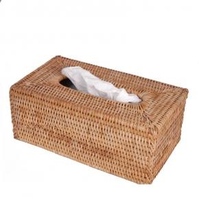 Мебель и Аксессуары для ванной из натурального дерева, Раттана и Бамбука. Салфетница плетёная Rattan Ротанг настольная Медовая