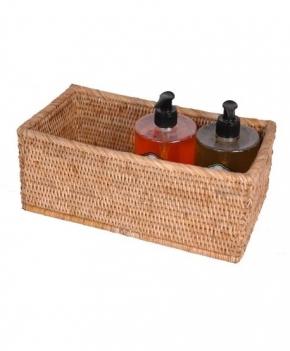 Мебель и Аксессуары для ванной из натурального дерева, Раттана и Бамбука. Лоток настольный плетёный Rattan Ротанг Медовый