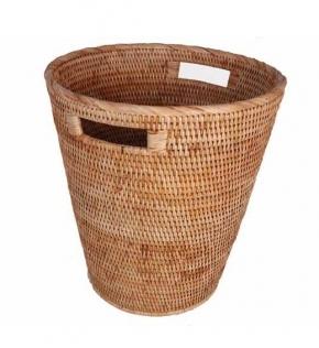 Мебель и Аксессуары для ванной из натурального дерева, Раттана и Бамбука. Раттан Плетёное ведро RATTAN Медовое с ручками