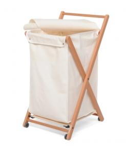 Корзины для белья. Деревянная корзина для белья складная Foppapedretti Angel с полотенцедержателем