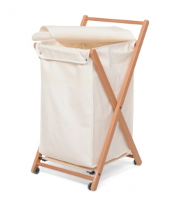 . Деревянная корзина для белья складная Foppapedretti Angel с полотенцедержателем