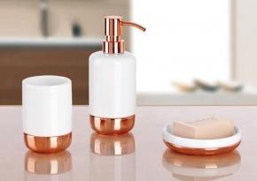 Аксессуары для ванной настольные. Claire Nicol настольные аксессуары для ванной керамические Rose-gold розовое золото