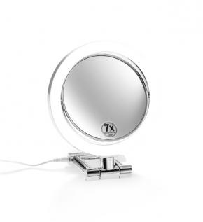 Зеркала косметические с подсветкой увеличением настенные настольные Зеркала с присосками. Зеркало косметическое настольное/ручное с увеличением и подсветкой LED двухстороннее