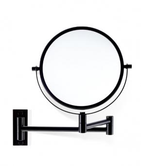 Зеркала косметические с подсветкой увеличением настенные настольные Зеркала с присосками. Косметическое зеркало настенное с увеличением 1х1 и 1х5 двухстороннее Чёрное