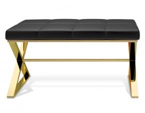 Банкетки Пуфы Скамьи. Bench банкетка для ванной золотая с мягким кожаным сиденьем