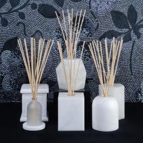 Ароматические свечи Парфюм для дома Диффузоры. Декоративные ёмкости для интерьерных ароматизаторов Alabaster из натурального камня Алебастр