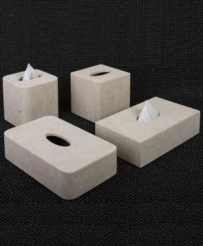 Салфетницы настольные настенные. Аксессуары для ванной из натурального камня Лечче салфетницы