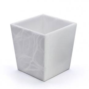 Аксессуары и Мебель для дома. Ваза из натурального камня Алебастр Alabaster квадратная