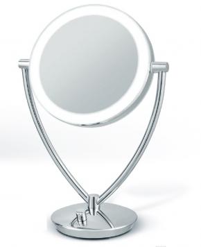 Зеркала косметические с подсветкой увеличением настенные настольные Зеркала с присосками. Fiona Nicol настольное двухстороннее косметическое зеркало с подсветкой LED и увеличением 1х1 и 1х5