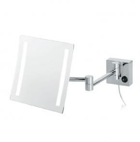 Зеркала косметические с подсветкой увеличением настенные настольные Зеркала с присосками. Olivia Nicol квадратное настенное косметическое зеркало с подсветкой LED и увеличением 1х5