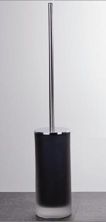 Ёршики для унитаза напольные и настенные. Baltic Nicol Ёршик для унитаза напольный длинный стеклянный чёрный