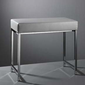 Банкетки для ванной Пуфы Интерьерные Табуреты для ванной и душа Откидные сиденья. Decor Walther Банкетка для ванной с мягким сиденьем Banc кожаная белая