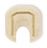 Коврики для ванной комнаты.  Коврик для ванной комнаты CLASSIC Nicol бежевый с люрексом золото/серебро с вырезом