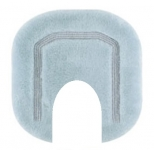 Коврики для ванной комнаты.  Коврик для ванной комнаты CLASSIC Nicol голубой люрекс золотой серебряный с вырезом