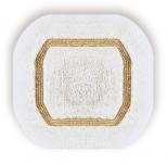Коврики для ванной комнаты.  Коврик для ванной комнаты CLASSIC Nicol белый люрекс золотой серебряный