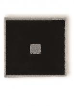 Коврики для ванной комнаты.  Коврик для ванной комнаты PIAZZA Nicol чёрный квадратный люрекс серебро