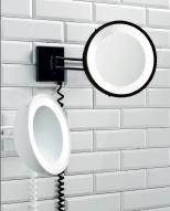 . Decor Walther Зеркало с подсветкой косметическое настенное с увеличением чёрное, белое