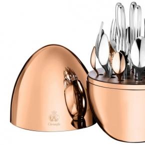 Посуда Столовые приборы Декор стола Deluxe. Набор столовых приборов 6/24 Моод посеребрение с розовым золотом