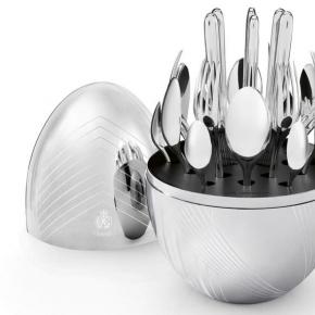 Посуда Столовые приборы Декор стола Deluxe. Набор столовых приборов 6/24 Моод Karl Lagerfeld посеребрение