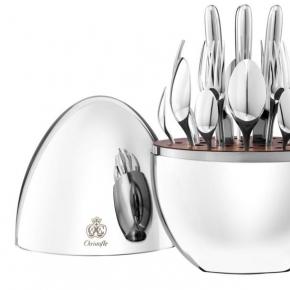 Посуда Столовые приборы Декор стола Deluxe. Набор столовых приборов 6 персон/24 предмета Моод посеребрение