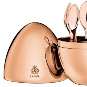 Посуда Столовые приборы Декор стола Deluxe. Набор из кофейных ложек Моод посеребрение с розовым золотом