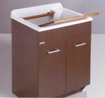 Итальянские постирочные раковины Мебель и оборудование для постирочной комнаты.  Глубокая раковина для стирки мебель для постирочной Венге Colavene
