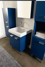 . Глубокая раковина для стирки мебель для постирочной Skip Colavene синяя