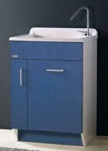 . Глубокая раковина для стирки мебель для постирочной Colavene Tella Indaco синяя