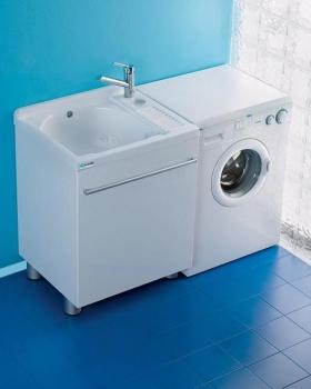 Итальянские постирочные раковины Мебель и оборудование для постирочной комнаты. Мебель для постирочной Active Wash Colavene Глубокая раковина для стирки белый