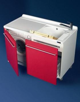 . Мебель для постирочной Active Wash Colavene, Глубокая раковина для стирки с крылом для стиральной машины