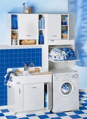 Итальянские постирочные раковины Мебель и оборудование для постирочной комнаты.  Постирочная раковина мебель для постирочной гарнитур белый Colavene