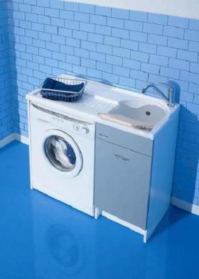 .  Мебель постирочная Глубокая раковина для стирки с крылом для стиральной машины Colavene