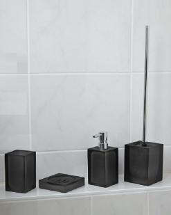Аксессуары для ванной настольные. Cube Аксессуары для ванной чёрные