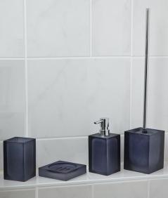 Аксессуары для ванной настольные. Cube Аксессуары для ванной синие