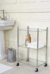 Этажерки для ванной. Windsor PomdOr этажерка напольная стеклянная тройная