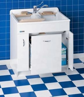 Итальянские постирочные раковины Мебель и оборудование для постирочной комнаты. Двойная Глубокая раковина для стирки мебель для постирочной TW Colavene белый