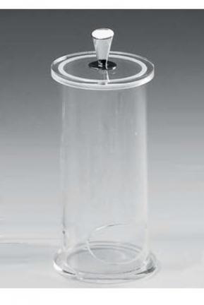 Контейнеры для ватных Дисков Шариков Палочек. Контейнер для ватных дисков прозрачный акрил-хром