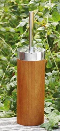 Мебель и Аксессуары для ванной из натурального дерева, Раттана и Бамбука. Ёршик для унитаза напольный деревянный Toskan Nicol