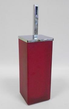 Ёршики для унитаза напольные и настенные. Ёршик для унитаза напольный стеклянный красный матовый квадратный MARMORES