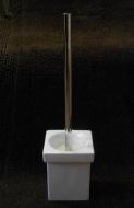 . Ёршик для унитаза напольный керамический белый SKUARA Lineabeta
